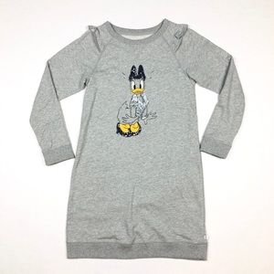 Gap Girl's Daisy Duck Disney Sweatshirt Dress XXL